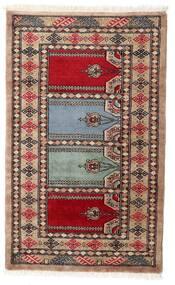 パキスタン ブハラ 2Ply 絨毯 76X125 オリエンタル 手織り 濃い茶色/深紅色の (ウール, パキスタン)