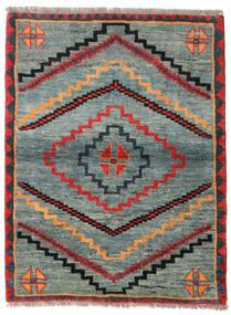 ギャッベ Rustic 絨毯 112X148 モダン 手織り 薄い灰色/緑色 (ウール, ペルシャ/イラン)