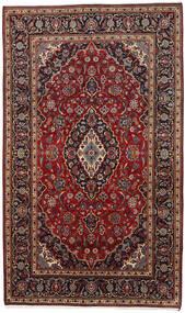 カシャン 絨毯 178X294 オリエンタル 手織り 深紅色の/濃い茶色 (ウール, ペルシャ/イラン)