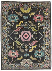 Ushak 絨毯 215X287 モダン 手織り 濃いグレー (ウール, パキスタン)