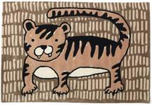 Cool Cat - ベージュ 絨毯 120X180 モダン 茶/薄茶色 (ウール, インド)