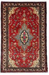 ハマダン 絨毯 79X121 オリエンタル 手織り 深紅色の/濃い茶色 (ウール, ペルシャ/イラン)