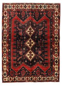 アフシャル 絨毯 152X208 オリエンタル 手織り 深紅色の/黒 (ウール, ペルシャ/イラン)