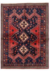 アフシャル 絨毯 149X201 オリエンタル 手織り 黒/深紅色の (ウール, ペルシャ/イラン)