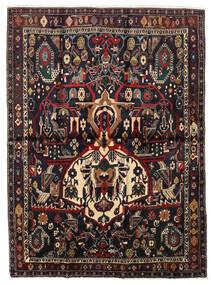 アフシャル Shahre Babak 絨毯 136X185 オリエンタル 手織り 深紅色の/薄茶色 (ウール, ペルシャ/イラン)