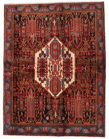 アフシャル 絨毯 168X217 オリエンタル 手織り 深紅色の/黒 (ウール, ペルシャ/イラン)