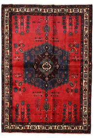 アフシャル 絨毯 160X227 オリエンタル 手織り 黒/赤 (ウール, ペルシャ/イラン)