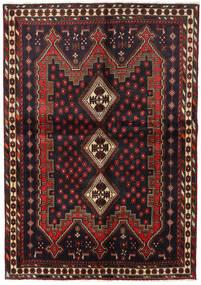 アフシャル 絨毯 148X211 オリエンタル 手織り 黒/深紅色の (ウール, ペルシャ/イラン)