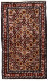 バルーチ 絨毯 98X164 オリエンタル 手織り 深紅色の/茶 (ウール, ペルシャ/イラン)