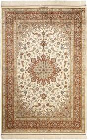 クム シルク 絨毯 130X197 オリエンタル 手織り ベージュ/茶 (絹, ペルシャ/イラン)
