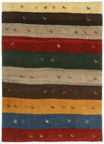ギャッベ ペルシャ 絨毯 123X176 モダン 手織り 深緑色の/赤 (ウール, ペルシャ/イラン)