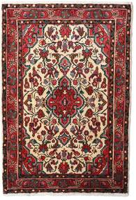 ハマダン 絨毯 80X120 オリエンタル 手織り 深紅色の/ベージュ (ウール, ペルシャ/イラン)