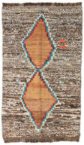 Moroccan Berber - Afghanistan 絨毯 80X129 モダン 手織り 薄い灰色/茶 (ウール, アフガニスタン)