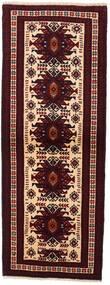 バルーチ 絨毯 74X198 オリエンタル 手織り 廊下 カーペット 深紅色の (ウール, ペルシャ/イラン)