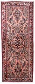 サルーク 絨毯 77X198 オリエンタル 手織り 廊下 カーペット 濃い茶色/深紅色の (ウール, ペルシャ/イラン)