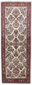 サルーク 絨毯 78X209 オリエンタル 手織り 廊下 カーペット 濃い茶色/深紅色の (ウール, ペルシャ/イラン)