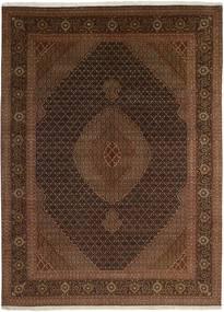 タブリーズ 50 Raj 絨毯 247X344 オリエンタル 手織り 黒/濃い茶色 (ウール/絹, ペルシャ/イラン)