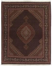 タブリーズ 50 Raj 絨毯 158X200 オリエンタル 手織り 黒/濃い茶色 (ウール/絹, ペルシャ/イラン)