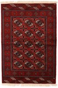 トルクメン 絨毯 110X160 オリエンタル 手織り 深紅色の/濃い茶色 (ウール, ペルシャ/イラン)