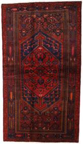ハマダン 絨毯 132X228 オリエンタル 手織り 深紅色の (ウール, ペルシャ/イラン)