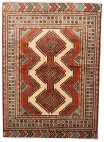 トルクメン 絨毯 125X172 オリエンタル 手織り 深紅色の/濃い茶色 (ウール, ペルシャ/イラン)