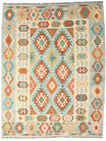 キリム アフガン オールド スタイル 絨毯 189X242 オリエンタル 手織り ベージュ/暗めのベージュ色の (ウール, アフガニスタン)