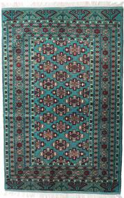 トルクメン 絨毯 135X203 オリエンタル 手織り 黒/濃いグレー (ウール, ペルシャ/イラン)