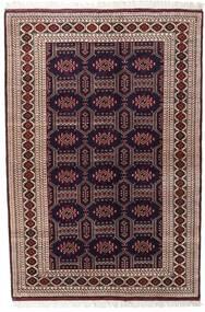 トルクメン 絨毯 134X197 オリエンタル 手織り 深紅色の/濃い茶色 (ウール, ペルシャ/イラン)
