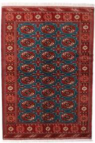 トルクメン 絨毯 132X195 オリエンタル 手織り 深紅色の/黒 (ウール, ペルシャ/イラン)