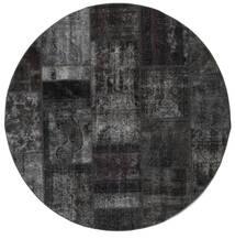パッチワーク - Persien/Iran 絨毯 Ø 200 モダン 手織り ラウンド 濃いグレー (ウール, ペルシャ/イラン)