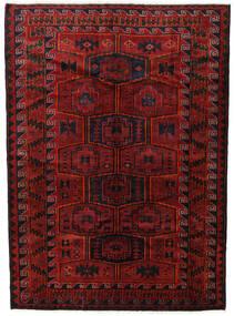 ロリ 絨毯 182X248 オリエンタル 手織り 深紅色の/黒 (ウール, ペルシャ/イラン)