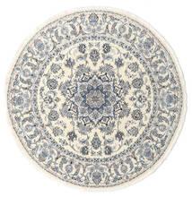 ナイン 絨毯 Ø 200 オリエンタル 手織り ラウンド ベージュ/薄い灰色 (ウール, ペルシャ/イラン)