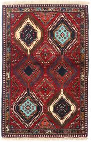 ヤラメー 絨毯 84X130 オリエンタル 手織り 深紅色の/濃い茶色 (ウール, ペルシャ/イラン)
