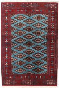 トルクメン 絨毯 133X190 オリエンタル 手織り 深紅色の/青 (ウール, ペルシャ/イラン)