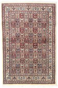 ムード 絨毯 98X150 オリエンタル 手織り ベージュ/薄い灰色 (ウール/絹, ペルシャ/イラン)