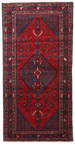 ハマダン 絨毯 103X200 オリエンタル 手織り 深紅色の/濃い茶色 (ウール, ペルシャ/イラン)