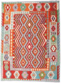 キリム アフガン オールド スタイル 絨毯 180X242 オリエンタル 手織り 錆色/深紅色の (ウール, アフガニスタン)