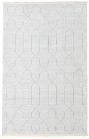 Bamboo シルク ハンドルーム 絨毯 160X230 モダン 手織り ベージュ/薄い灰色/ホワイト/クリーム色 ( インド)