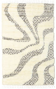 Barchi/Moroccan Berber - インド 絨毯 160X230 モダン 手織り ホワイト/クリーム色/ベージュ (ウール, インド)