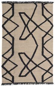 Boho Fish - グレー/黒 絨毯 200X300 モダン 手織り 薄い灰色/黒 (ウール, インド)