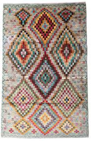Moroccan Berber - Afghanistan 絨毯 116X182 モダン 手織り 薄い灰色/薄茶色 (ウール, アフガニスタン)
