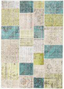 パッチワーク - Turkiet 絨毯 170X240 モダン 手織り 暗めのベージュ色の/薄い灰色 (ウール, トルコ)