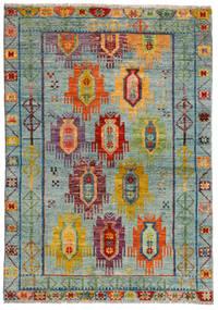 Moroccan Berber - Afghanistan 絨毯 124X176 モダン 手織り 薄い灰色/茶 (ウール, アフガニスタン)