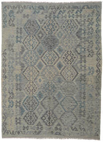 キリム アフガン オールド スタイル 絨毯 180X245 オリエンタル 手織り 濃いグレー/薄い灰色 (ウール, アフガニスタン)