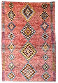 Moroccan Berber - Afghanistan 絨毯 122X179 モダン 手織り ライトピンク/錆色 (ウール, アフガニスタン)