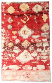 Moroccan Berber - Afghanistan 絨毯 123X202 モダン 手織り 錆色/深紅色の (ウール, アフガニスタン)