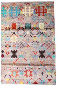 Moroccan Berber - Afghanistan 絨毯 119X177 モダン 手織り ベージュ/濃いグレー (ウール, アフガニスタン)