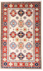 カザック 絨毯 93X152 オリエンタル 手織り ベージュ/ライトピンク (ウール, アフガニスタン)