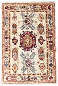カザック 絨毯 97X147 オリエンタル 手織り ベージュ/濃い茶色 (ウール, アフガニスタン)