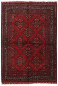 アフガン 絨毯 164X232 オリエンタル 手織り 深紅色の/濃い茶色 (ウール, アフガニスタン)
